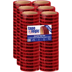 """Tape Logic® Secure Tape, 3"""" Core, 2"""" x 60 Yd., Red, Case Of 36"""