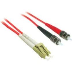 C2G-1m LC-ST 62.5/125 OM1 Duplex Multimode PVC Fiber Optic Cable - Red