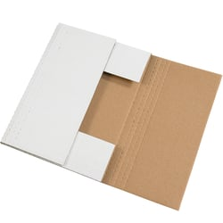 """Office Depot® Brand Easy Fold Mailers, 24"""" x 18"""" x 2"""", White, Pack Of 50"""
