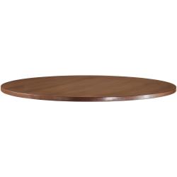 "Lorell® Essentials Round Table Top, 48""D, Walnut"