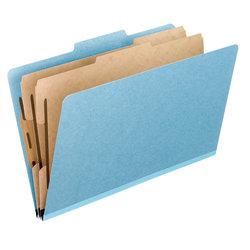 """Pendaflex® Pressboard Classification Folders, 8 1/2"""" x 11"""", Letter Size, Sky Blue, Box Of 10 Folders"""