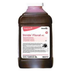 Diversey™ Stride Neutral Cleaner, Floral Scent, 84.5 Oz Bottle, Pack Of 2 Bottles