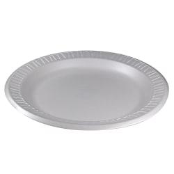 "Dart Laminated Foam Plates, 9"", White, Pack Of 125 Plates"