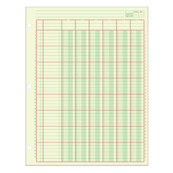 "Adams® Analysis Pad, 8 1/2"" x 11"", 100 Pages (50 Sheets), 6 Columns, Green"