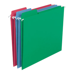 Smead® FasTab® Hanging File Folders, Letter Size, Assorted Colors, Pack Of 18 Folders