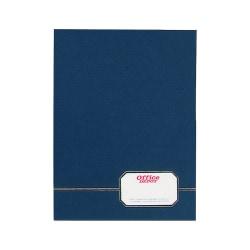 Oxford™ Monogram Executive Twin Pocket Folder, Letter Size, Blue/Gold, Pack Of 4