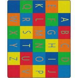 "Flagship Carpets Alphabet Seating Rug, 10' 9"" x 13' 2"", Multicolor"