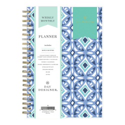 "Blue Sky™ Day Designer Weekly/Monthly PP Planner, 5"" x 8"", Tile, January To December 2021, 101410"