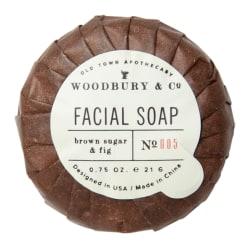 Hotel Emporium Woodbury & Co Fig And Brown Sugar Facial Soaps, 0.74 Oz, Case Of 500 Soaps