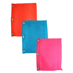 "Inkology Neon Mesh Fashion Binder Pencil Pouches, 10"" x 7"", Assorted Colors, Pack Of 6 Pouches"