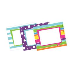 """Barker Creek Self-Adhesive Name Badge Labels, 3 1/2"""" x 2 3/4"""", Happy, Pack Of 45"""