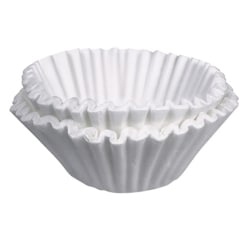 BUNN Flat-Bottom Commercial Coffee Filters, 12 Cup, White, Pack Of 500
