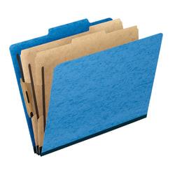 "Pendaflex® PressGuard® Color Classification File Folders, 8 1/2"" x 11"", Letter Size, 65% Recycled, Light Blue, Box Of 10"
