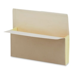"""Pendaflex® End-Tab Expanding File Pockets, Letter Size, 3 1/2"""" Expansion, 30% Recycled, Manila, Box Of 25"""