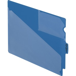 Pendaflex® Poly End-Tab Out Guides, Letter Size, Blue, Box Of 50