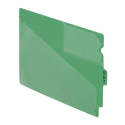"Esselte Recycled Colored Vinyl Out Guides - 1 Printed Tab(s) - Message - OUT - 12.8"" Divider Width x 9.50"" Divider Length - Green Vinyl Divider - 50 / Box"