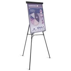"Office Depot® Brand Presentation Easel, 35-1/2""-65""H, Black With Chart Holder"