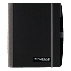 """Cambridge® Limited® Business Notebook, 6"""" x 9 1/2"""", 1 Subject, Legal Ruled, 50 Sheets, Black Accents"""
