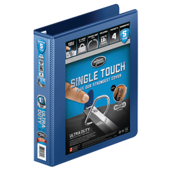 "Wilson Jones® Ultra Duty D-Ring View Binder, 1 1/2"" Ring, 39% Recycled, Navy"