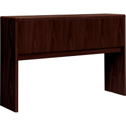 "HON® 10700 Series™ Laminate Closed Hutch, For Use With 60"" Kneespace Credenza, Mahogany"