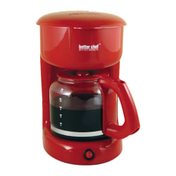 Better Chef 12-Cup Coffeemaker, Red