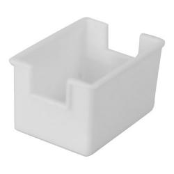 "Winco Plastic Sugar Packet Holder, 3-1/2""L x 2-1/2""W x 2""H, White"