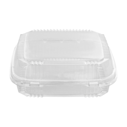 Pactiv ClearView SmartLock Food Containers, 49 oz, 8-13/64 inches x 8-11/32 inches x 2-29/32 inches, 200 containers per Carton, Sold by the Carton
