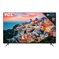 "TCL 43S525 - 43"" Diagonal Class (42.5"" viewable) - 5 Series LED TV - Smart TV - Roku TV - 4K UHD (2160p) 3840 x 2160 - HDR - black metal"