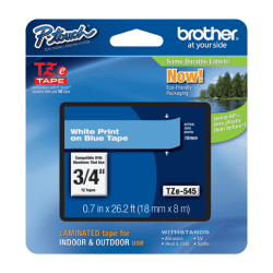 Brother TZe-545 Label Tape, Blue