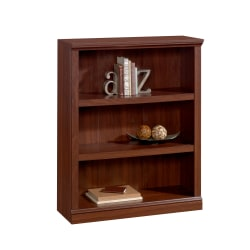 "Realspace® Premium Bookcases 44"" 3 Shelf Transitional Bookcase, Cherry"