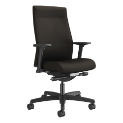 HON® Ignition Fabric Mid-Back Task Chair, Espresso