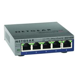 NETGEAR 5 Gigabit Ethernet ProSafe Plus Switch, GS105E