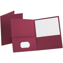 Esselte® Letter-Size Twin-Pocket Report Covers, Burgundy, Box Of 25