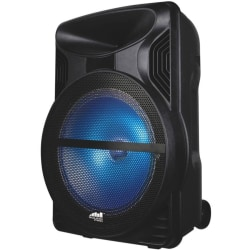 Naxa NDS-1213 Portable Bluetooth Speaker System - Black - Battery Rechargeable - USB