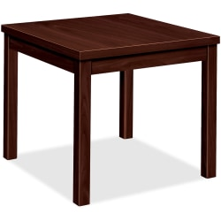 HON® Occasional Table, End, Mahogany