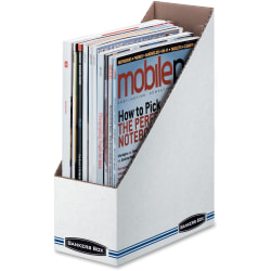 Fellowes Stor/File Magazine Files - Letter - White - Cardboard - 12 / Carton