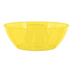 "Amscan 10-Quart Plastic Bowls, 5"" x 14-1/2"", Yellow Sunshine, Set Of 3 Bowls"