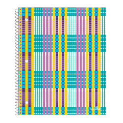 """Office Depot® Brand Stellar Poly Notebook, 8"""" x 10-1/2"""", 1 Subject, Wide Ruled, 160 Pages (80 Sheets), Plaid"""