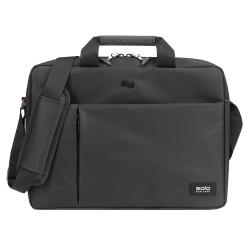 "Solo® Lead Slim Briefcase With 15.6"" Laptop Pocket, Black"