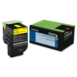 Lexmark™ 70C1HY0 High-Yield Yellow Toner Cartridge