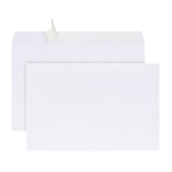 "Office Depot® Brand Greeting Card Envelopes, A9, Clean Seal, 5 3/4"" x 8 3/4"", White, Box Of 100"