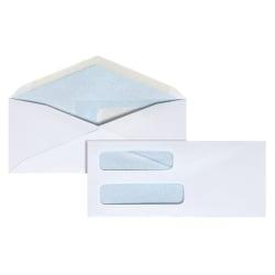 """Office Depot® Brand Double-Window Envelopes, #8 5/8"""", 3 5/8"""" x 8 5/8"""", White, Gummed, Box Of 500"""