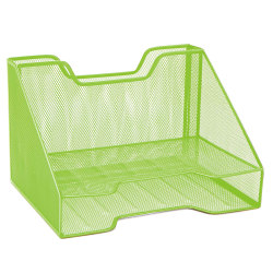 "Mind Reader 3-Compartment Desk Organizer, 8-1/4""H x 12-1/2""W x 9-3/4""D, Green"