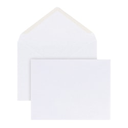 "Office Depot® Brand Invitation Envelopes, A2, 4 3/8"" x 5 3/4"", White, Pack Of 100"