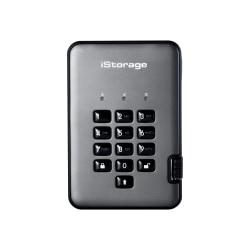 iStorage diskAshur PRO² - Solid state drive - encrypted - 8 TB - external (portable) - USB 3.1 - FIPS 140-2 Level 3, FIPS 197, 256-bit SHA, 256-bit AES-XTS - graphite