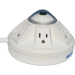 Powramid Power Center and USB Charging Station - 6ft / 1.8m - 6 x AC Power, 2 x USB - 1800 VA - 1080 J - 120 V AC Input - 5 V DC Output