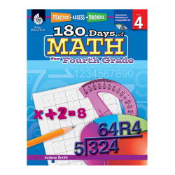 Shell Education 180 Days of Math Practice, Grade 4