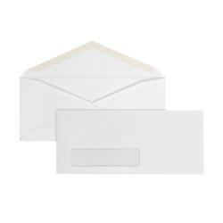 Office Depot® Brand #10 Envelopes, Left Window, Gummed Seal, White, Box Of 500