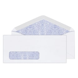 """Office Depot® Brand Security Window Envelopes, #10, 4 1/8"""" x 9 1/2"""", White, Box Of 500"""