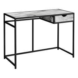 "Monarch Specialties Riva 43""W Computer Desk, White/Black"